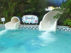 Water slides at Beaches Negril resort