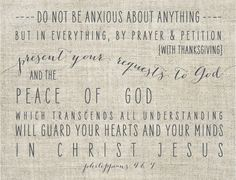 Philippians 4:6-7 - the peace of God