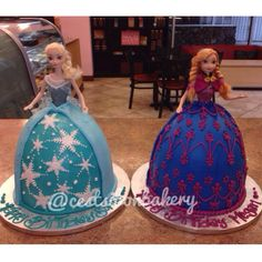 Anna and elsa #frozen cake