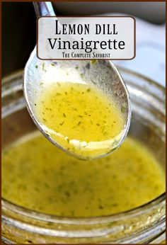 10 Most Misleading Foods That We Imagined Were Being Nutritious! Lemon Dill Vinaigrette Fresh And Light, Lemon Dill Vinaigrette Is The Perfect Dressing For Any Salad With Its Herbaceous And Citrus Notes The Complete Savorist Lemon Salad Dressings, Salad Dressing Recipes, Healthy Salad Dressings, Healthy Dressing For Salads, Salad Dressing For Diabetics, Homemade Salad Dressings, Salmon Salad Dressing, Vinegar Salad Dressing, Lemon Vinagrette