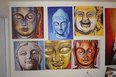 BUDDHA wall in my studio