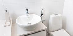 Oras Optima washbasin faucet with a Bidetta hand shower.