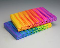 Starless Clay: Rainbow Daisy Pen Tutorial **I have an extruder, only 4 basic colors to start, color recipes included** Cane Fimo, Polymer Clay Canes, Fimo Clay, Polymer Clay Projects, Polymer Clay Creations, Polymer Clay Jewelry, Clay Crafts, Polymer Beads, Clay Earrings