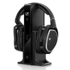 The Sennheiser RS 165 Wireless Headphone system is perfect for connecting to a TV, stereo receiver or other audio device for an excellent wireless headphone listening experience. Circumaural Headphones, Sennheiser Headphones, Diy Headphone Stand, Best Surround Sound, Bluetooth, Technology, Gadgets, Modern Tech, Vibrant