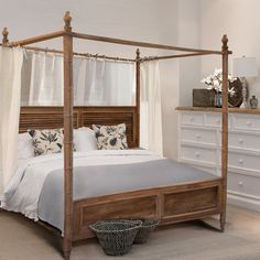 Hampton Queen Canopy Bed - Beds & Bedheads - Bedroom
