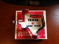 "Vintage Texas State Lone Star ""Cooky"" Cutter Metal Cookie Bisquit Original BOX AmericanTraditionCookieCutters.com"