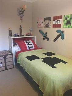 DIY Minecraft Bedroom                                                       …