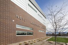 Neil Armstrong Academy, WVC, Utah Team: Steel Encounters, Naylor Wentworth Lund, Darrell Anderson Construction (Centria 2h and 2v fwds, Iw14a, finish silver 9957) Neil Armstrong, Metal Panels, Panel Systems, Lund, Utah, Multi Story Building, Construction, Steel, Architecture