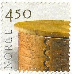 Norway stamps | Norway - Stamp Birch Bark Basket 4.50