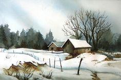 Rural Snow - 15 x 22