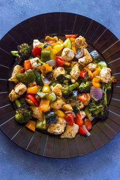 Quick and Healthy Dinner Recipes - 15 Minute Healthy Roasted Chicken and Veggies - Easy and Fast Recipe Ideas for Dinners at Home - Chicken, Beef, Ground Meat, Pasta and Vegetarian Options - Cheap Dinner Ideas for Family, for Two , for Last Minute Cooking http://diyjoy.com/quick-healthy-dinner-recipes
