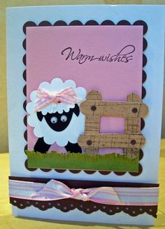 Punch Art Sheep by Sarah-Jane - Cards and Paper Crafts at Splitcoaststampers