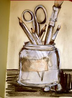 Twitter / AnneMarieRickus: Tools of the trade #sketchjanuary ...