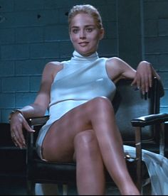 Basic Instinct - Sharon Stone oh my god, she's just the coolest girl. And long time ago in that cinema that scene I was speechless and screamed the operator to put the film backwards. I was 15 when the film was forbidden to under Best moment Geri Halliwell, Elizabeth Hurley, Olivia Munn, Faye Dunaway, Kim Basinger, Josephine Baker, Gq Men, Vogue, Woman Movie
