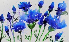 Hey, I found this really awesome Etsy listing at https://www.etsy.com/listing/187690101/cornflowers-watercolour-original