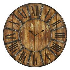 Aspire Edmonson Black/Gold-tone/Brown Metal Wall Clock (Edmonson Wall Clock)