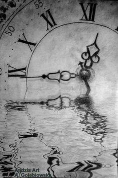 clock in water - Sketching by Anna Gołębiowska in My drawings :) at touchtalent 62085