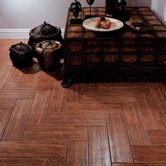 """Interceramic Woodlands 6"""" x 20"""" Ceramic Floor Tile in Cherry $5.33 sq ft"""