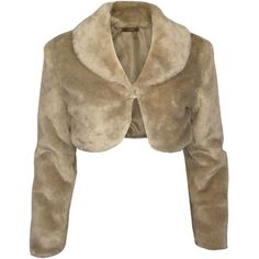 Bolero Fake Fur Brown