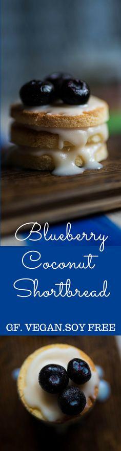 Blueberry coconut shortbread