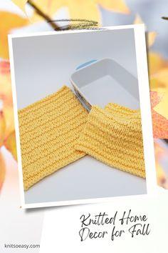 Knit So Easy quick & easy patterns = effortlessly cozy knitting. #KnittingPatterns #FallCrafts #Handknits