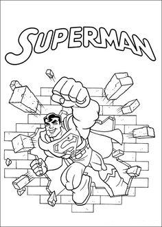 Super Friends Fargelegging for barn. Tegninger for utskrift og fargelegging nº 16