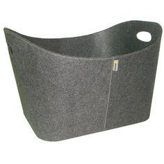 Aduro Baseline Grey Felt Log Basket - 550mm
