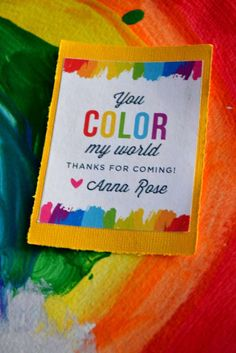 Rainbow Art Birthday Party Ideas | Photo 73 of 91 | Catch My Party