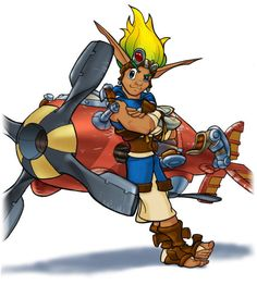 View an image titled 'Jak & Racer Art' in our Jak & Daxter: The Precursor Legacy art gallery featuring official character designs, concept art, and promo pictures. Game Character Design, Character Design References, Character Art, Cartoon Video Games, Video Game Characters, Jet Set Radio, Jak & Daxter, Game Concept Art, Comic Games