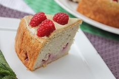 Pretty Cake - Gluten free, vegan raspberry lemon coconut cake! Sugar free too!