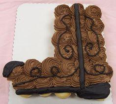 Cowboy Boot Cupcake Cake