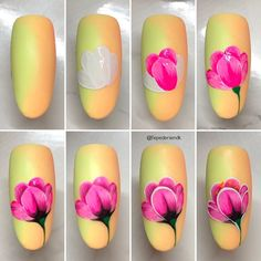 Choose from an Amazing Array of Nail Art Design Nail Art Fleur, Rose Nail Art, Floral Nail Art, Rose Nails, Flower Nails, Flower Nail Designs, Diy Nail Designs, Diy Nails, Swag Nails
