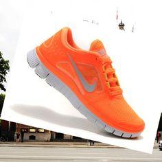 Running shoes Nike Free Run 3 - All Orange Men HOT SALE! HOT PRICE!