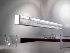 Ein Hinguker in jedem Esszimmer. Esszimmerlampe mit Touchdimmer (Helligkeit und Farbtemperatur einstellbar!). Diese glamouröse Leuchte ist chromfarbenem Stahl und Glas gefertigt und ist mit klaren Kristallen versehen. DAS SEHE ICH MIR NÄHER AN!
