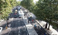 The cycle superhighway on London's Victoria Embankment.