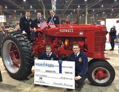 Of all the tractors on display at the recent Pennsylvania Farm Show, the bright red 1940 Farmall M displayed by Penn Manor FFA students may have had the best back story. The tractor was meticulousl… Tractor Pictures, Farm Show, Farmall Tractors, Classic Tractor, Antique Tractors, International Harvester, Ih, Restoration, Monster Trucks