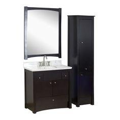 American Imaginations AI-171 Elite 36-in Wood Bathroom Vanity Set