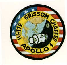 AS-204 Patch -  Apollo 1 was originally designated AS-204 but following the fire, the astronauts' widows requested that the mission be remembered as Apollo 1 and following missions would be numbered subsequent to the flight that never made it into space.