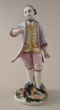 Statuette en porcelaine de Mennecy XVIIIe siècle