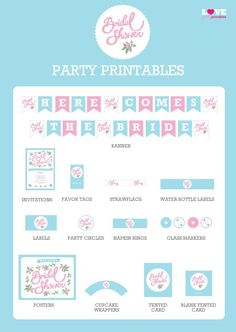 Pin for Later: 25 Free Bridal Shower Printables Labels, Markers, Invitations, and More This site's chock-full of amazing printables, including labels, banners, markers, invitations, and more.