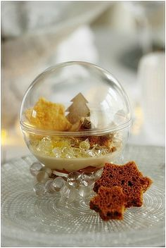 – NICOLE PASSIONS Hello, Tonight, I go back this recipe party because, she participates in a contest with my partner: LA VILLAGEOISE. Entree Festive, Mango, French Food, Christmas Inspiration, Entrees, Panna Cotta, Buffet, Food And Drink, Xmas