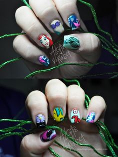 the little mermaid #nails #nailart #makeup