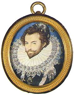 Raleigh (1552?-1618) was one of the more famous Elizabethans; a passionate and brilliant man, he angered the queen by secretly marrying one of her ladies-in-waiting, Elizabeth Throckmorton.  Imprisoned by Elizabeth, he was eventually put to death by King James I in 1618.  His long stay in the Tower chafed at the former explorer, but he continued his many studies and remained a popular figure amongst the English people.