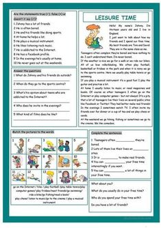 4 Reading Comprehension Exercises for Beginners Leisure Time √ Reading Comprehension Exercises for Beginners . 4 Reading Comprehension Exercises for Beginners . Worksheet Ideas Reading Prehension Exercises Amazing in Comprehension Exercises, Reading Comprehension Activities, Reading Worksheets, Vocabulary Worksheets, Reading Strategies, Reading Skills, Printable Worksheets, Free Printable, Reading Time