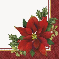 Holly Poinsettia Holiday Party Napkins 16ct >>> To view further for this item, visit the image link.