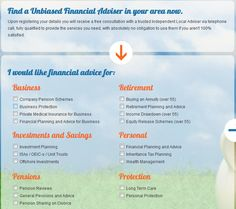 Find a Unbiased Financial Adviser in your area now.