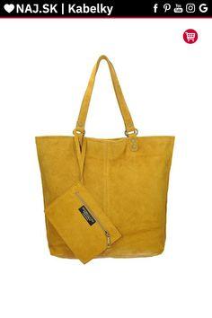 Kabelka shopper Vera Pelle MIEDŹ KR-024 YELLOW-002 Shopper Bag, Tote Bag, Michael Kors, Yellow, Bags, Fashion, Handbags, Moda, Fashion Styles