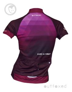 #Ride random - Outfoxed womens jersey Mix it up with these pinks and purples. Modern and stylish.... be different. Be yourself. www.outfoxedwomenscycling.co.uk