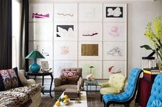 Gallery Wall Inspiration: 10 Examples of Frames Hung on a Grid