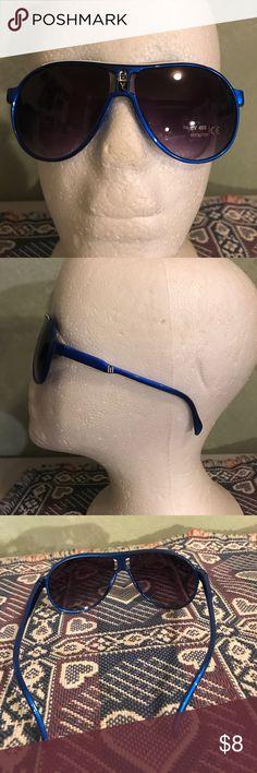 Boys fashion sunglasses Blue and white , plastic Accessories Sunglasses